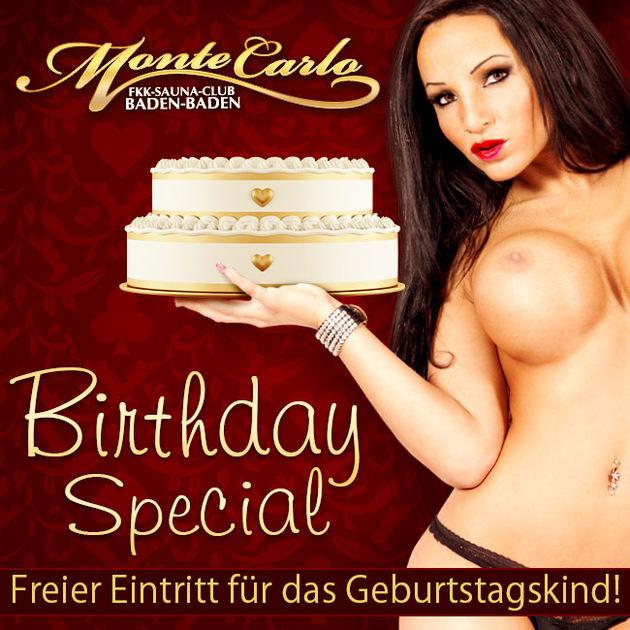 Birthday Special - Feiern im Monte Carlo!