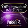 Öffnungszeiten Restaurant  im FKK-Paradies