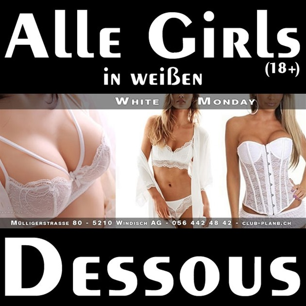 White Monday - alle Girls (18+) in weißen Dessous