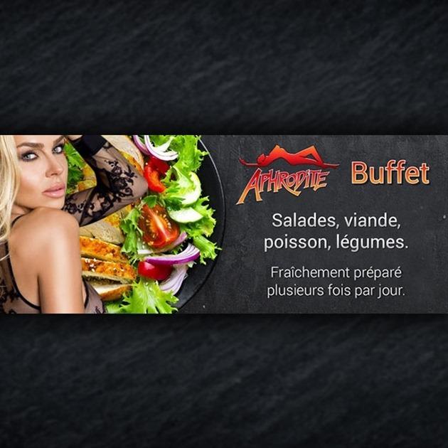 Täglich mehrfach frisches Buffet