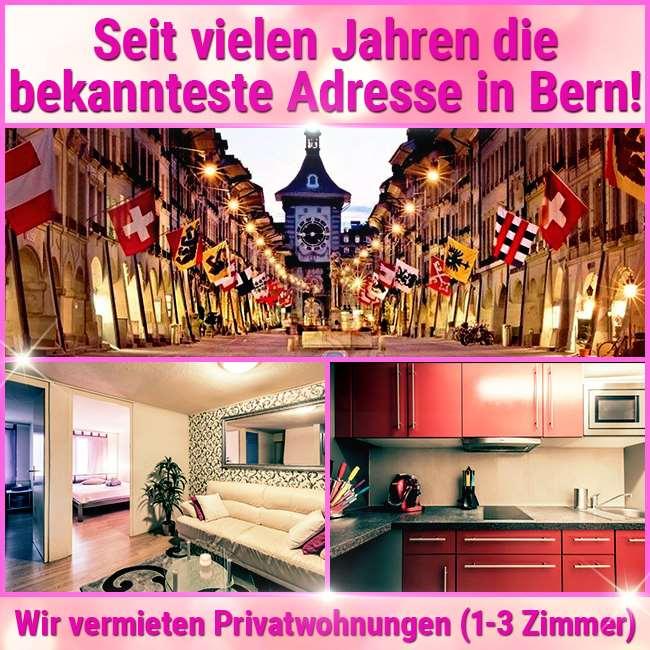 Studios oder Wohnungen in Bern, Wochen- oder Monatsmiete