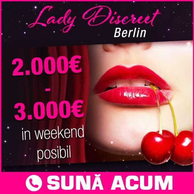 Lady Discreet - 2.000-3.000 € în weekend posibil!