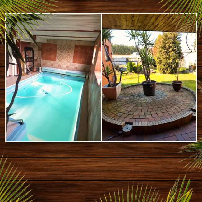 Residential and commercial property with indoor pool